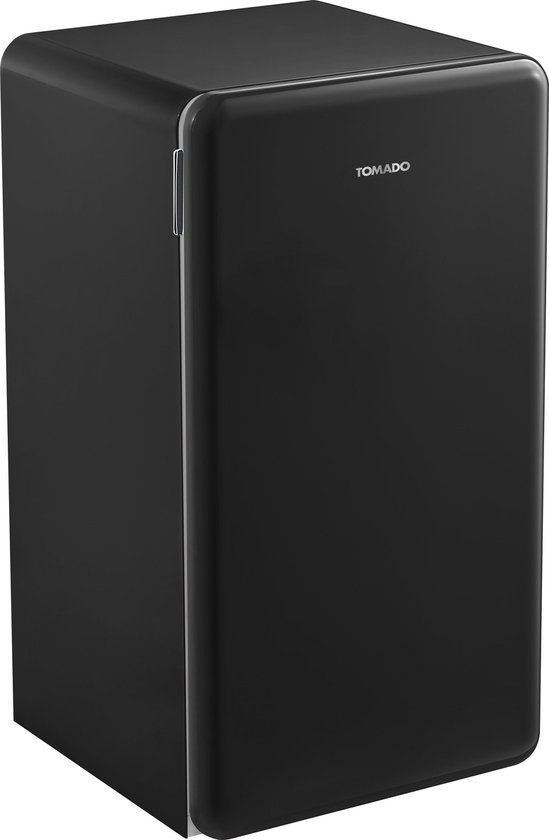 Tafelmodel koelkast: Tomado TRT4701B -  Retro tafelmodel koelkast - 93 liter -  2 draagplateaus - zwart, van het merk Tomado