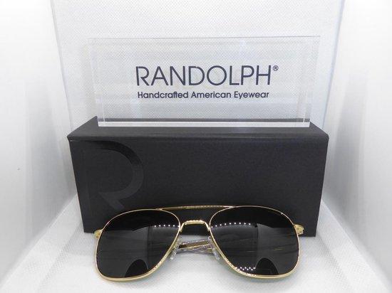 Randolph zonnebril, Aviator AF106, 23 karaat goud, skytec AGX glazen, maat 58