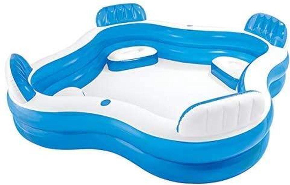 Intex 56475NP - Opblaasbare Swim Center Family Lounge, 90 x 90 x 26 inch