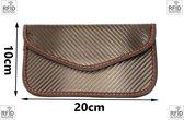 RFID anti-diefstal beschermhoesje zwart carbon-look / Smartphone creditcard en rfid autosleutel beschermhoesje / anti-diefstal / anti-skimmen / Faraday kooi / NFC bankpas en creditcard bescherming.