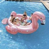 Intex XXL Opblaas Flamingo | Met Zitplekken, Drankenkoeler En Bekerhouders | Flamingo Zwembad | Flamingo boot