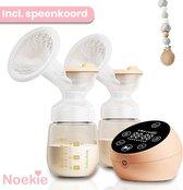 Noekie® Elektrische Dubbele Borstkolf – 9 Standen Volautomatisch incl LCD-display en 2x flesje – BPA-vrij