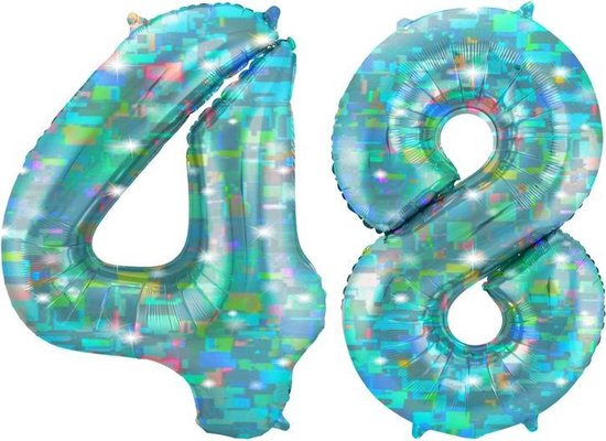 Cijfer 48 Galactic Aqua (86cm)