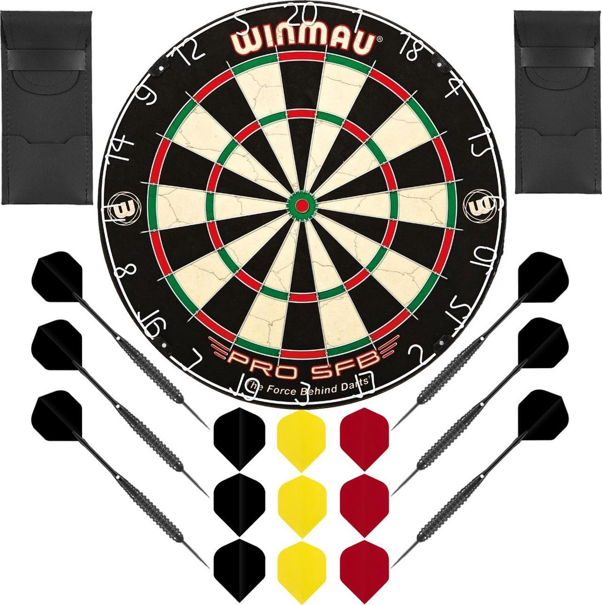 Dragon Darts Belgian Dreammaker set - dartbord - 2 sets - dartpijlen - dart shafts - dart flights - Winmau PRO SFB