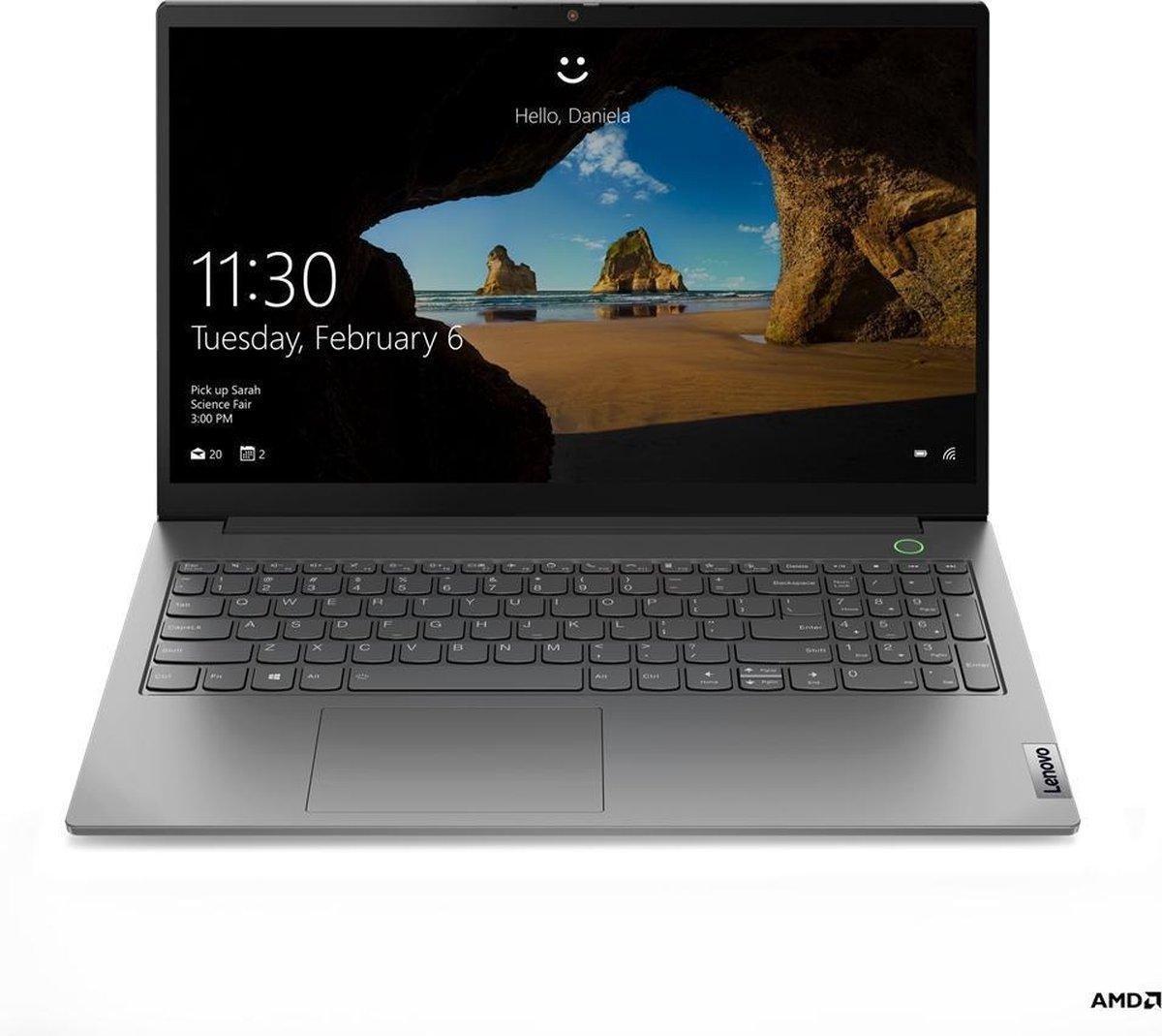 """Lenovo ThinkBook 15 DDR4-SDRAM Notebook 39,6 cm (15.6"""") 1920 x 1080 Pixels Intel® 11de generatie Core™ i5 8 GB 256 GB SSD Wi-Fi 6 (802.11ax) Windows 10 Pro Grijs"""