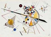 Poster Mild Tension - Kandinsky - Large 70x50 - Expressionisme - Abstracte Kunst