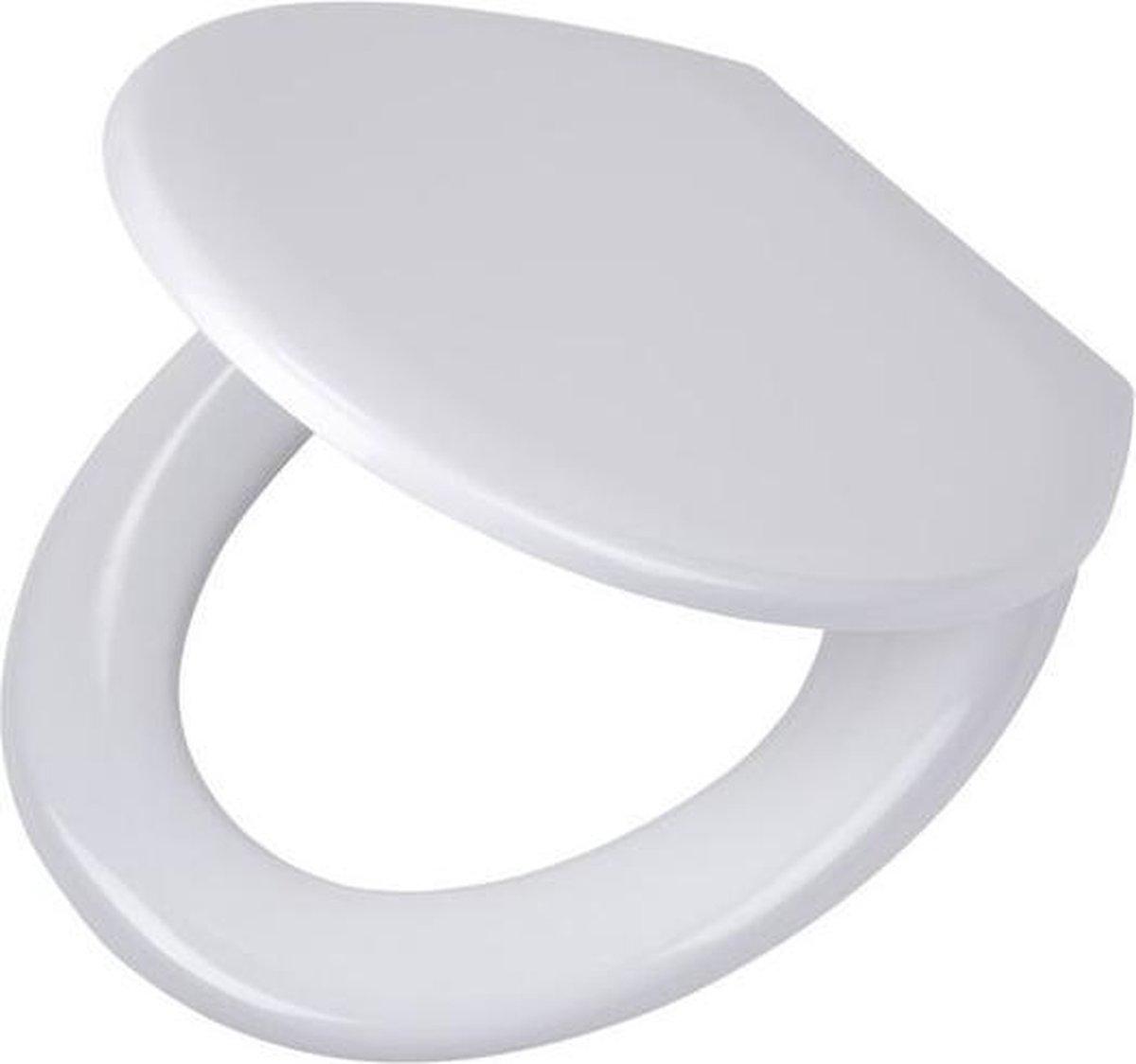 Tiger Pasadena wc-bril - Softclose - Thermoplast - Afklikbaar - Wit