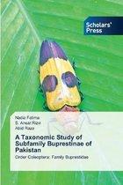 A Taxonomic Study of Subfamily Buprestinae of Pakistan