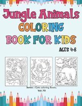 Jungle Animals Coloring Book for Kids Ages 4-8