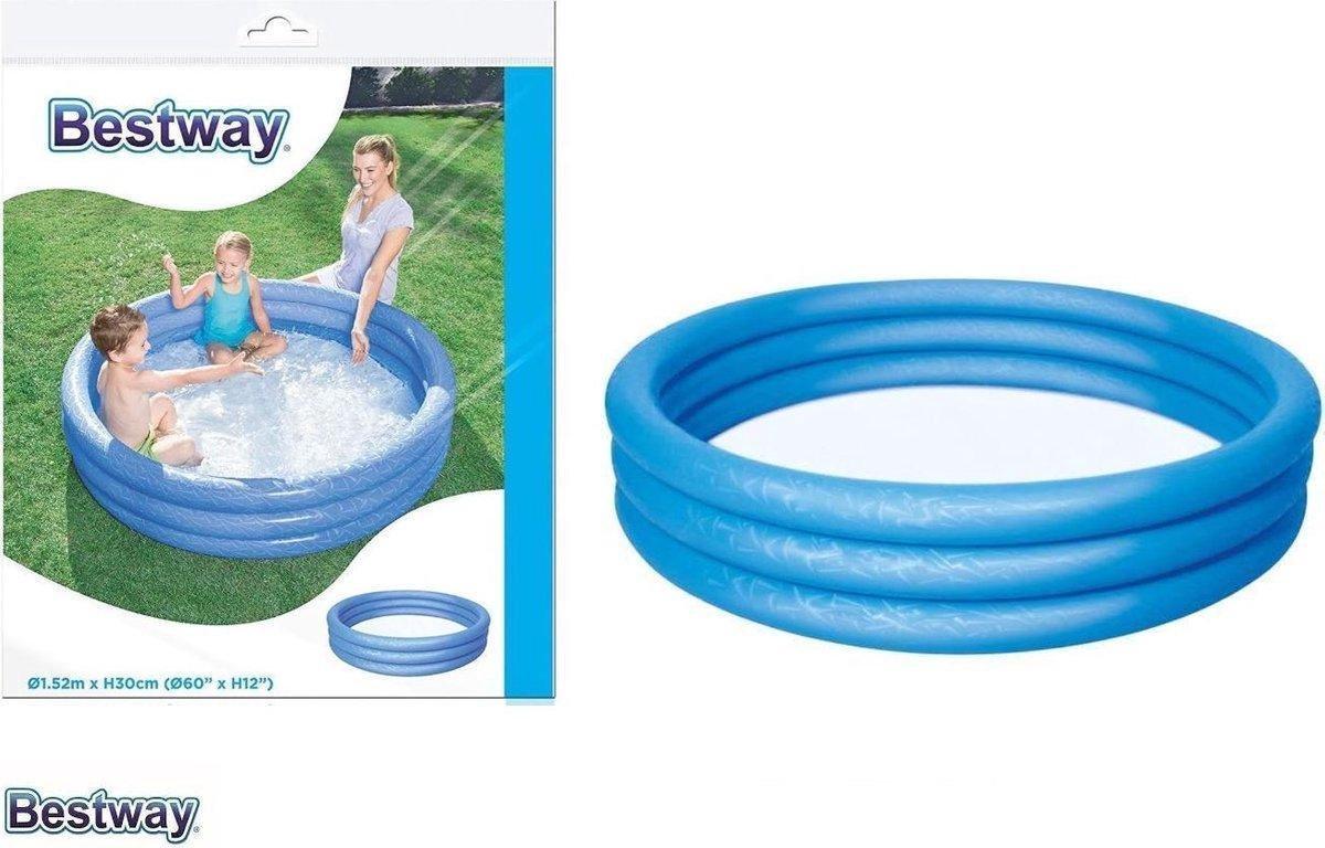 Bestway Zwembadje 3 ringen 122m x 25 cm inhoud 140L inclusief reperatieset zomer speelgoed zwemmen tuin balkon