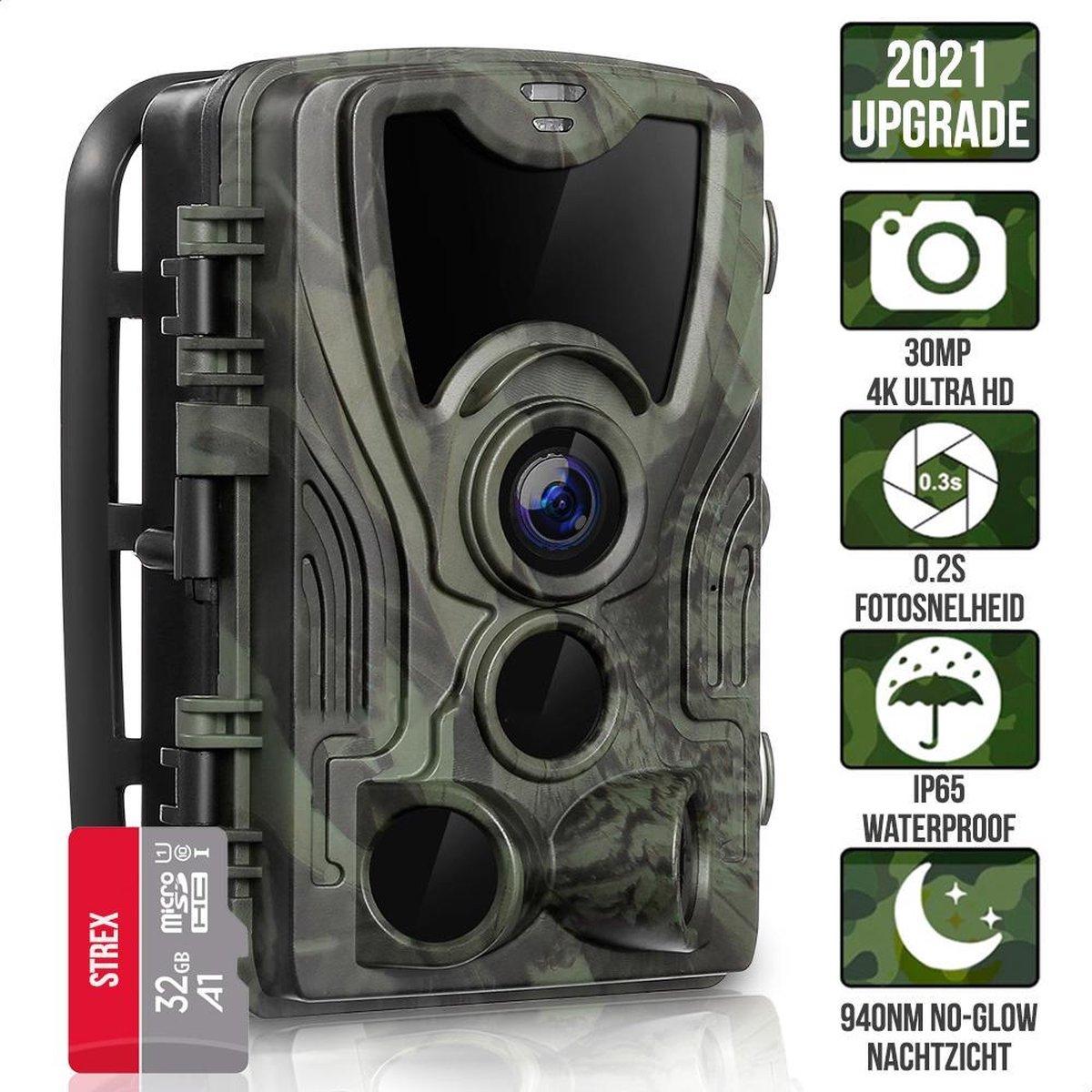 Wildcamera met Nachtzicht - 24MP 1080P HD - Waterdicht - Incl. 32 GB SD - Wild Camera