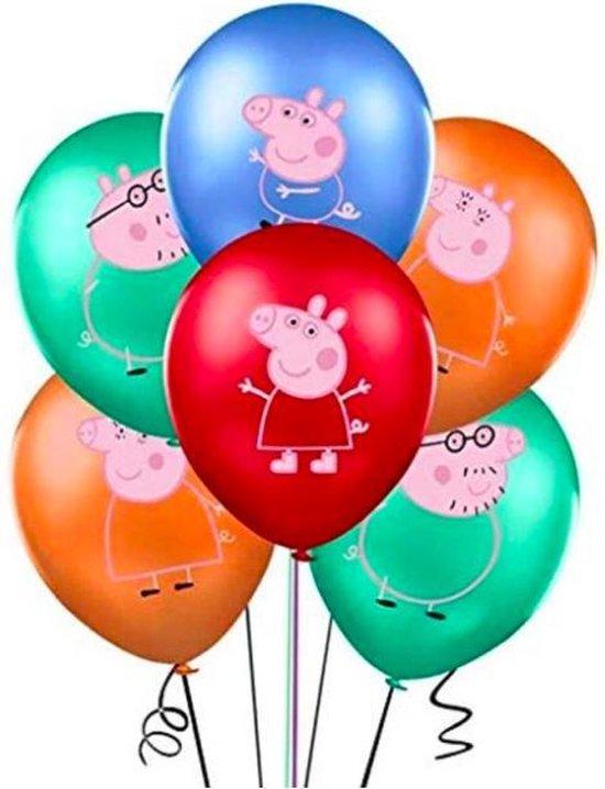 ProductGoods - 10x Peppa Pig Ballonnen Verjaardag -Verjaardag Kinderen - Ballonnen - Ballonnen Verjaardag - Peppa Pig - Kinderfeestje