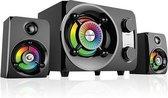 Rampage RMS-G8 bluetooth 2.1 speakerset - LED regenboog verlichting