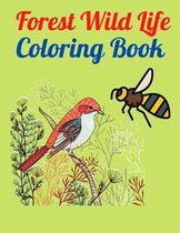 Forest Wild Life Coloring Book