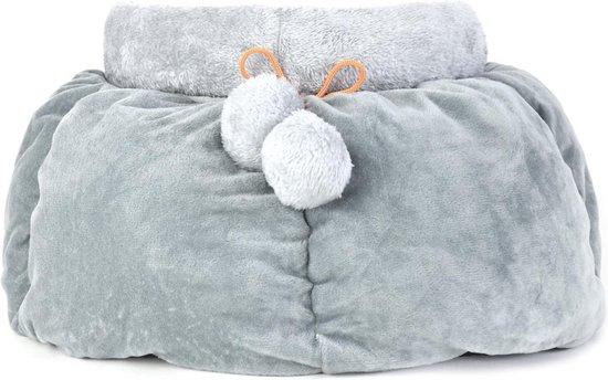 Studio Proud - Hondenmand - grijs - De ideale slaapplek voor kleine hondje voor optimale comfort en rust