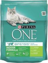 Purina ONE Adult Indoor - Kattenvoer Kalkoen - 3 kg