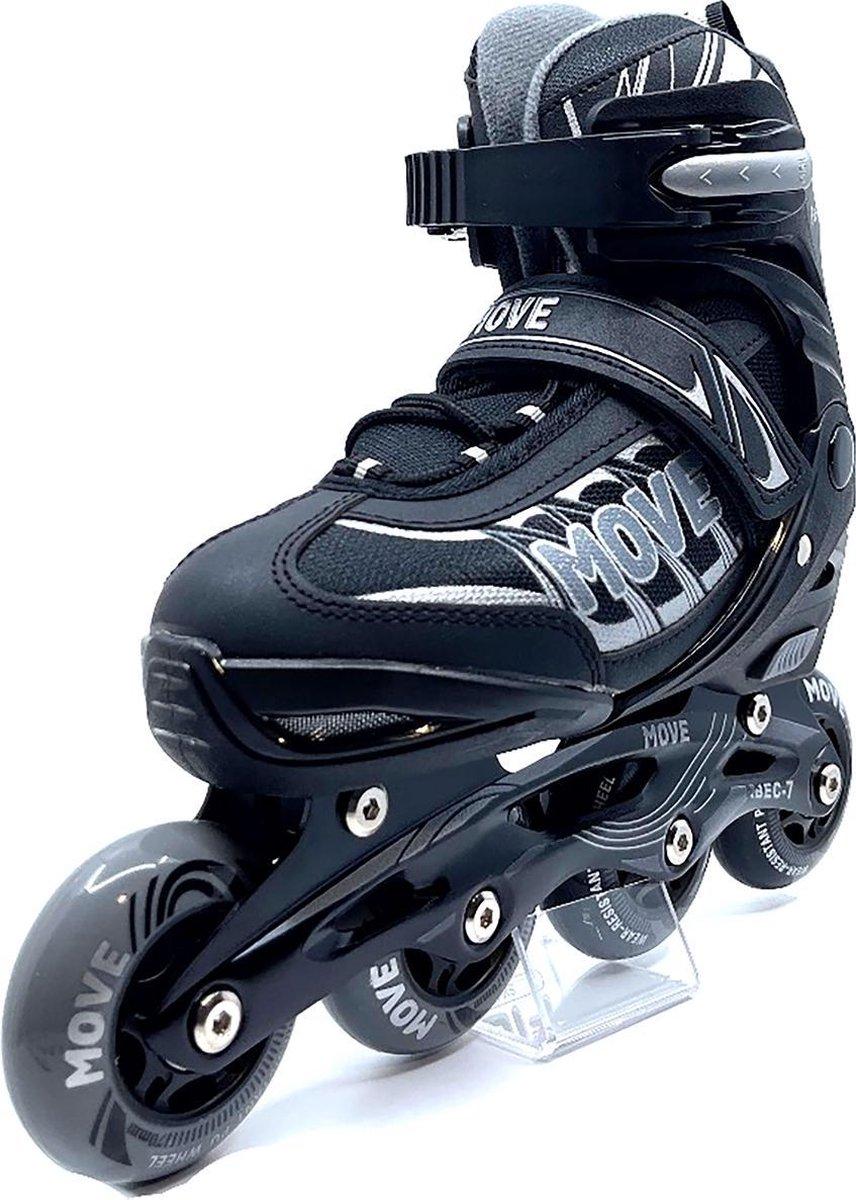 MOVE - Fast Uni - Inline skates voor kind - Zwart - Maat 34-37 - Verstelbaar - Skeelers
