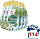 Robijn Klein & Krachtig Kokos Sensation Vloeibaar Wasmiddel - 6 x 19 wasbeurten - Voordeelverpakking