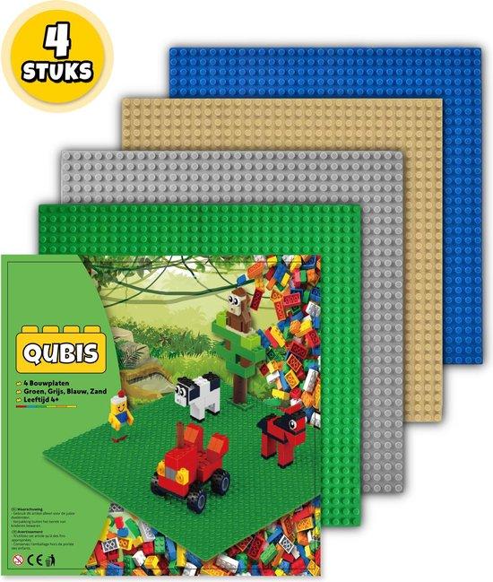 Complete Set Bouwplaten geschikt voor LEGO - 4 Stuks - Groen, Grijs, Blauw, Zand - Bouw Plaat - Wegen Platen - Voor Classic Bouwstenen