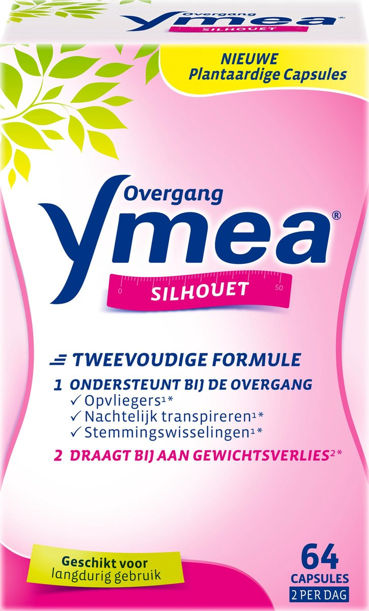 Ymea Overgang Silhouet   Overgang tabletten   Overgang producten - Voedingssupplement - 64 capsules