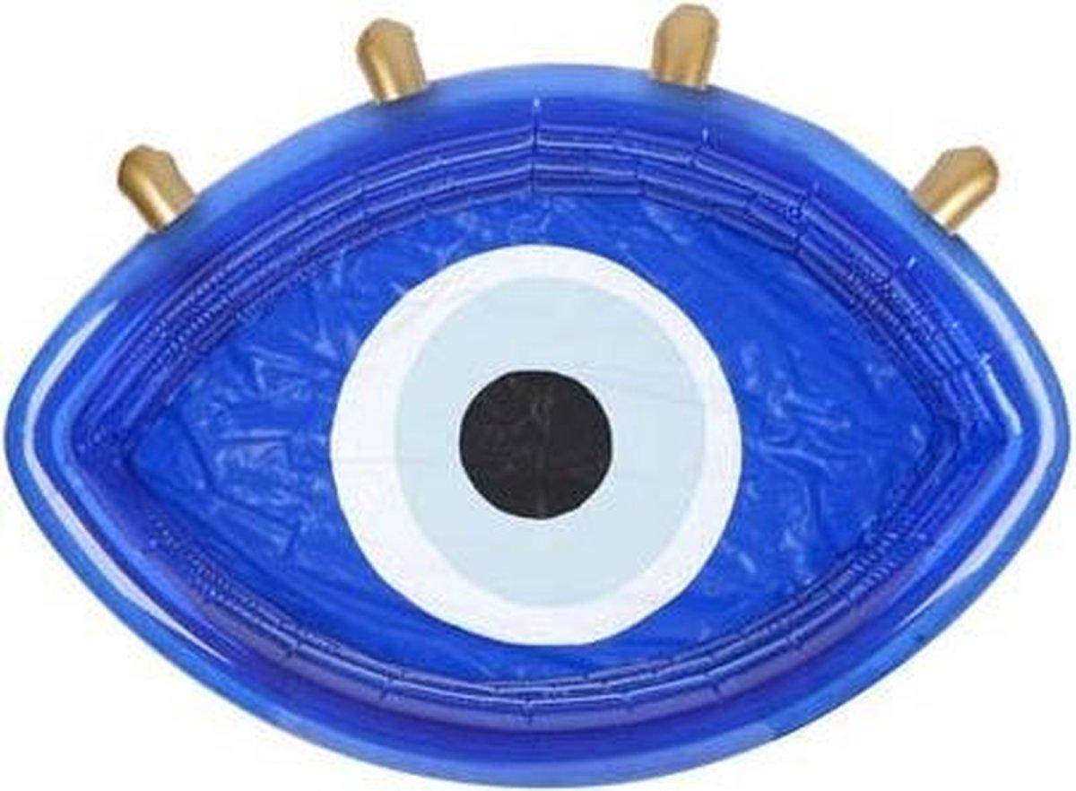 Sunnylife - Zwembad Greek Eye - opblaasbaar - 160 x 130 x 39cm - Blauw