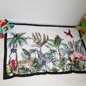 Speelkleed jungle beige 195 x 145 Deluxe EXTRA DIK - Liefboefje - Groot Speelkleed Baby - Speelmat Kinderen - Babymat XL - Kindervloerkleed - Kraamcadeau - Speelkleed Kinderen - 50+ design speelkleden