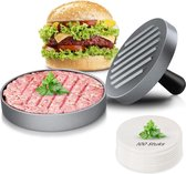 Auctic® - Hamburgerpers - BBQ Accesoires - 100x Bakpapier - Kookgerei - RVS