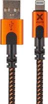 Xtorm Xtreme USB naar Lightning kabel - incl. levenslange garantie - 1,5 m - Zwart/Oranje