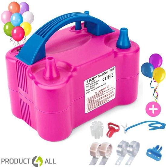 Elektrische Ballonnenpomp met Dubbele Vulfunctie met Ballon accessoires en Ballonnen-Roze 120 V - 600 W - Elektrische Ballon Pomp Voor Decoratie Feest Party Verjaardag-Ballonnenboog