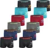Microfiber Boxershort jongens SJ10 - Jongens ondergoed - VOORDELIGE 12 PACK 10-12 jaar 146/158