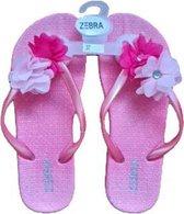 Meisjes slipper - Flower Hot Pink - 32.5/34