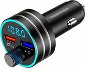 Trendfield FM Transmitter Bluetooth 5.0 - Carkit USB 3.0 Fast Charge - Auto Accessoires - Beluister Draadloos Muziek via Spotify of Youtube