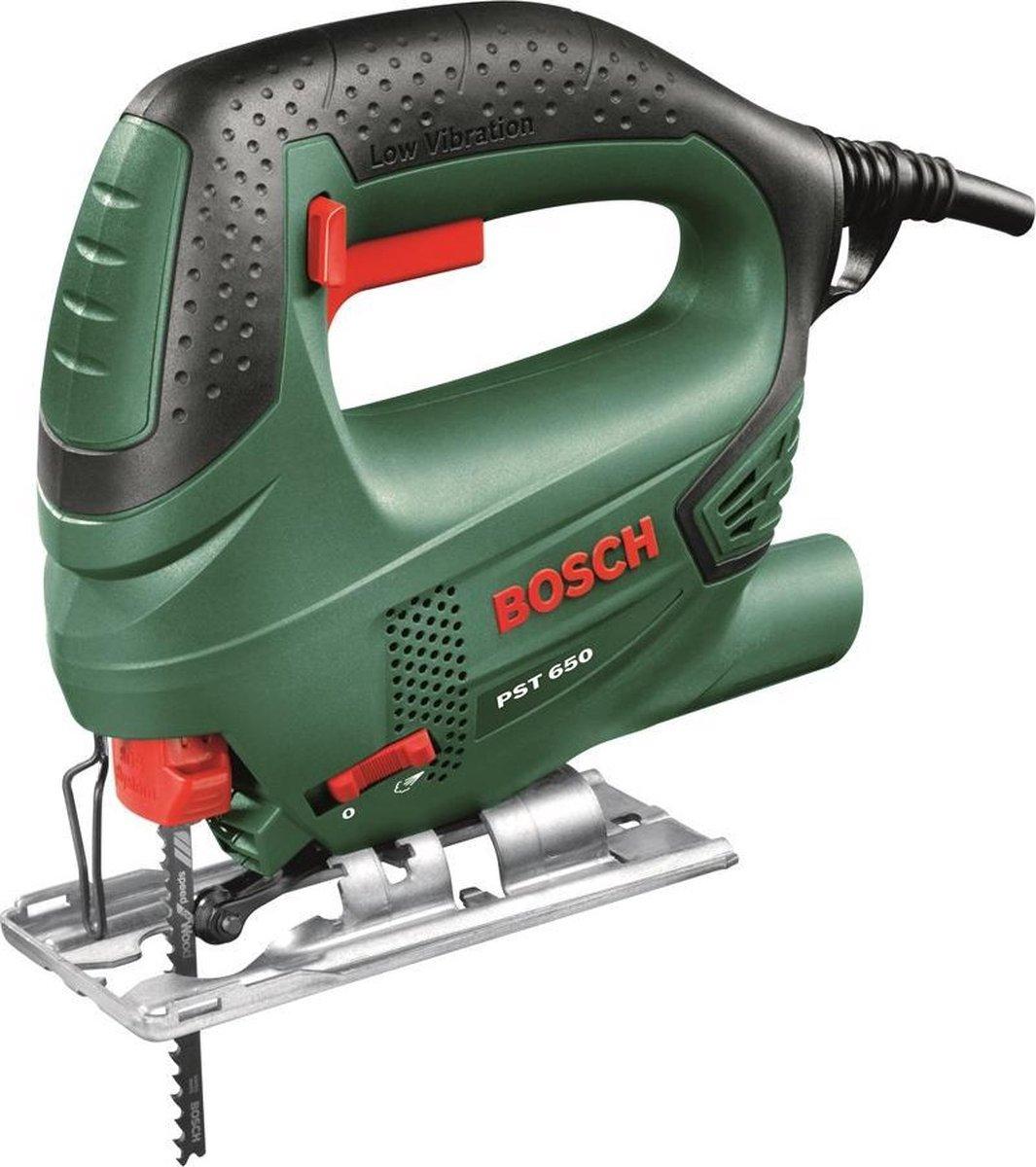 Bosch PST 650 Decoupeerzaag - 500 W - Met kunststof koffer en 1 decoupeerzaagblad voor hout