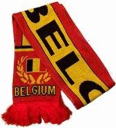 Sjaal Belgium met Belgische vlag | EK Voetbal 2020 2021 | België sjaal gebreid dubbelzijdig | Rode Duivels supporter | Belgie souvenir | Belgique