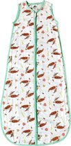 Slaapzak baby 110 cm hydrofiel voor zomer - Zeeschildpad print -Super zacht bamboe textiel - Peuter 18 - 36 mnd - Eigen ontwerp geschilderd door Mies