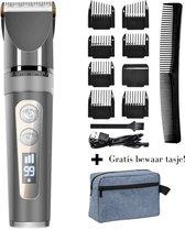 Professionele tondeuse + gratis opberg tasje - tondeuse mannen - haar trimmer - baard trimmer - kappers tondeuse - tondeuse draadloos - tondeuse