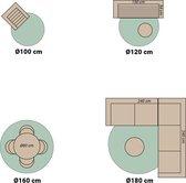 Rond Buitenkleed - Summer Azteca Mint Ø 100cm