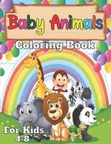Baby animals coloring book for kids 4-8