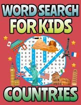 Word Search For Kids - Countries