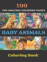 100 Baby Animals Coloring Book