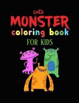 Cute Monster Coloring Book for Kids