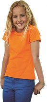 Oranje t-shirt voor meiden 104 (4 jaar)