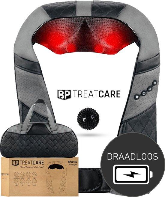 Treatcare® Draadloos Shiatsu Massage Apparaat | Shiatsu Massage Kussen | Vaderdag Cadeau | Voetmassage Apparaat | Massage Apparaten