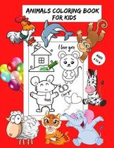 Animals Coloring book For Kids Ages 3-8