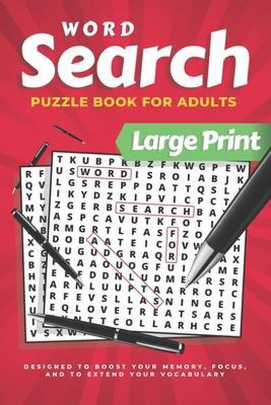 Word Search For Adults Large Print