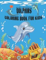 Dolphins Coloring Book For Kids