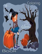 Halloween Coloring Book: Cute Spooky Scary Things Coloring Pages for Kids, Ages 4-8, With