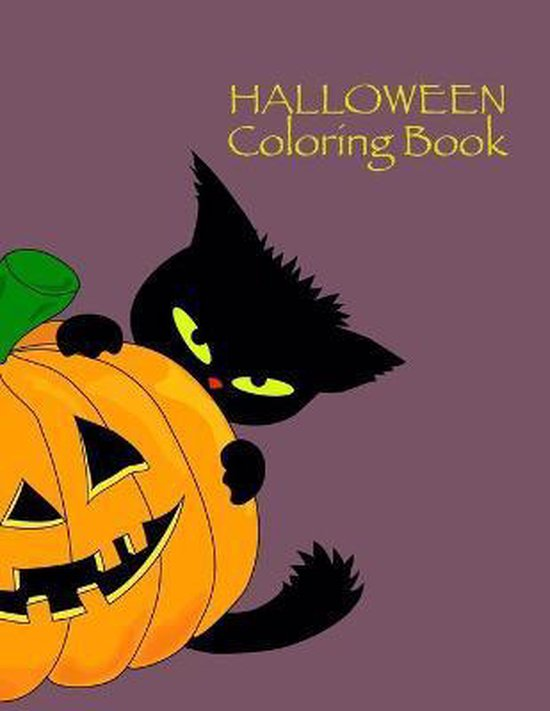 Halloween Coloring Book: Kids Halloween Book, Ages 4-8, With