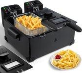 Aigostar Feast 30VDW - Dubbele frituurpan - 2x3 liter - Zwart