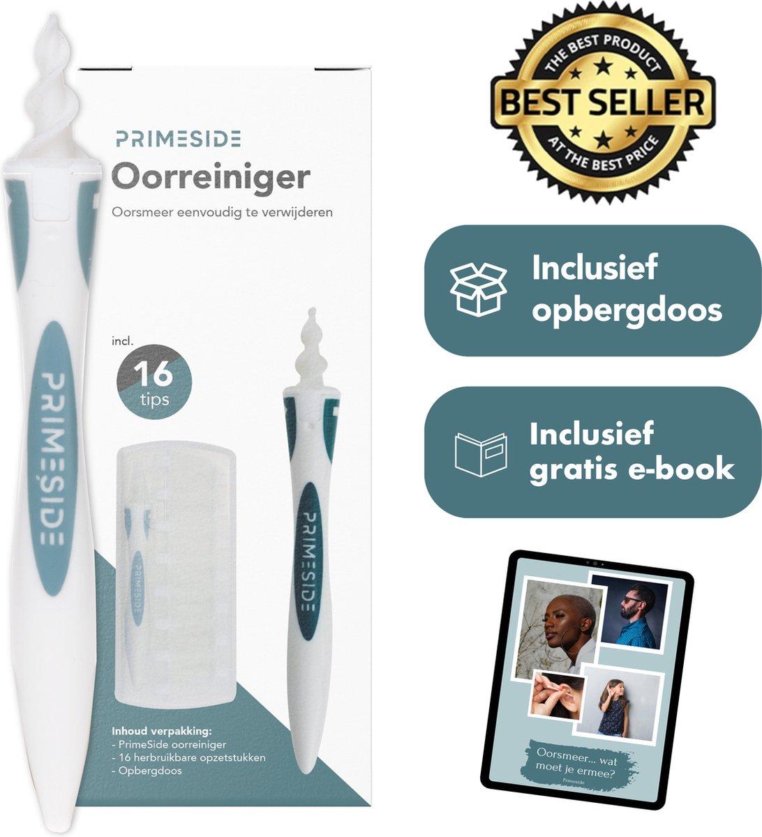 PrimeSide Oorsmeer Verwijderaar - incl. Opbergdoosje & Gratis E-book - milieuvriendelijk   Spiraalvo